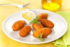 Croquettes de jambon et de fromage Photo libre de droits