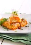 Croquettes de pomme de terre et de carotte Photos libres de droits