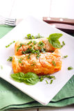 Croquettes de pomme de terre et de carotte Image libre de droits