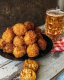 Croquettes de poulet Image stock