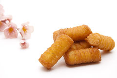 Croquettes with flower Stock Images