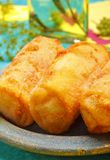 Croquettes on plate Stock Image