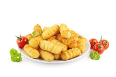 Croquettes on plate Royalty Free Stock Photo