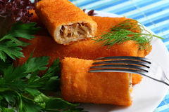 Croquettes on the plate Stock Photos