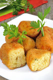 Croquettes of potatoes Royalty Free Stock Photos