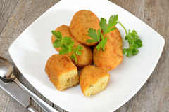 Croquettes of potatoes Royalty Free Stock Image