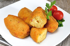 Croquettes of potatoes Royalty Free Stock Images