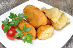 Croquettes of potatoes Stock Image