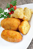 Croquettes of potatoes Royalty Free Stock Photography