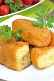 Croquettes of potatoes Royalty Free Stock Photo