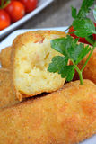Croquettes of potatoes Stock Photo