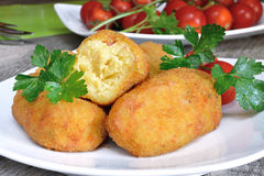 Croquettes of potatoes Stock Images