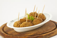 Croquettes with salad Royalty Free Stock Image