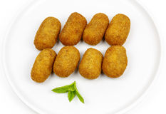 Croquettes Served As Tapas Stock Photo
