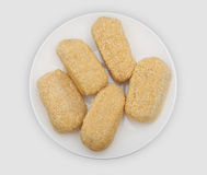 Croquettes on a white plate Royalty Free Stock Photo