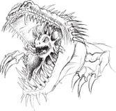 Croquis étranger de monstre de parasite Image stock