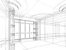 Croquis abstrait architectural illustration stock