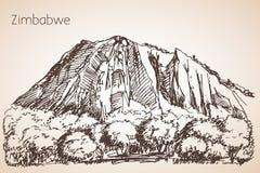 Croquis africain de montagne Image stock