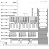 Croquis architectural abstrait de dessin, illustration illustration stock