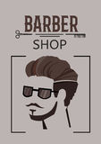 Croquis Barber Shop Poster Photos stock