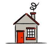 Croquis coloré de maison Image libre de droits