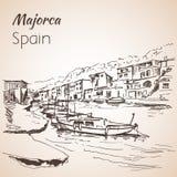 Croquis d'île de Majorca croquis Images libres de droits