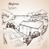 Croquis d'île de Majorca croquis Images stock