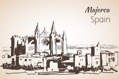 Croquis d'île de Majorca croquis Photographie stock