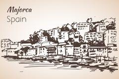Croquis d'île de Majorca croquis Photographie stock libre de droits