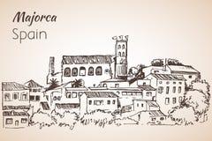 Croquis d'île de Majorca croquis Image libre de droits