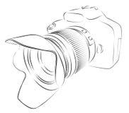Croquis d'appareil-photo illustration stock