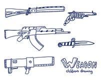 Croquis d'armes Photos libres de droits