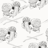 Croquis d'escargot Image stock