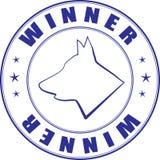 Croquis d'estampille pour le certificat du club canin illustration stock