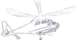 Croquis d'hélicoptère Photos stock