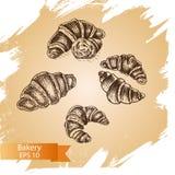 Croquis d'illustration de vecteur - boulangerie illustration libre de droits