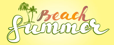 Croquis d'illustration de vecteur de symbole de logo de plage d'été illustration stock