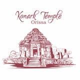 Croquis d'Orissa Inde de temple de Konark illustration de vecteur