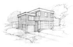 Croquis d'un architecte Image libre de droits