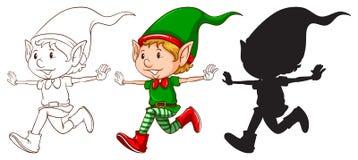Croquis d'un elfe Photo stock