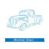 Croquis d'une vieille voiture Photo libre de droits