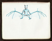 croquis de 'bat' 3 3d illustration stock
