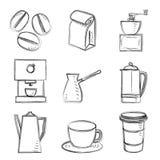 Croquis de café Photographie stock libre de droits