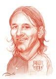 Croquis de caricature de Lionel Messi Image stock