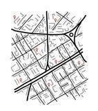 Croquis de carte de ville pour votre conception Image stock