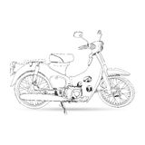 Croquis de classique de moto Image libre de droits