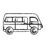 croquis de classique de transport de van vehicle Photographie stock