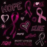 Croquis de conscience de cancer du sein illustration libre de droits
