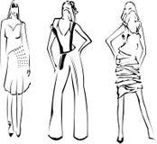 Croquis de créateur de filles de mode illustration libre de droits