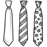 Croquis de cravate de vêtement illustration libre de droits